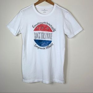 American Eagle; Rock The Vote Graphic Tee